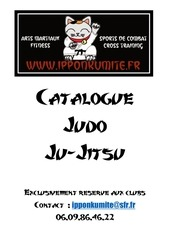 Fichier PDF catalogue club judo