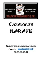 Fichier PDF catalogue club karate