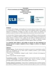 memorandum elc   droits des personnes intersexes   23 avril 2019