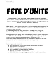 fete dunite 2019   convocation