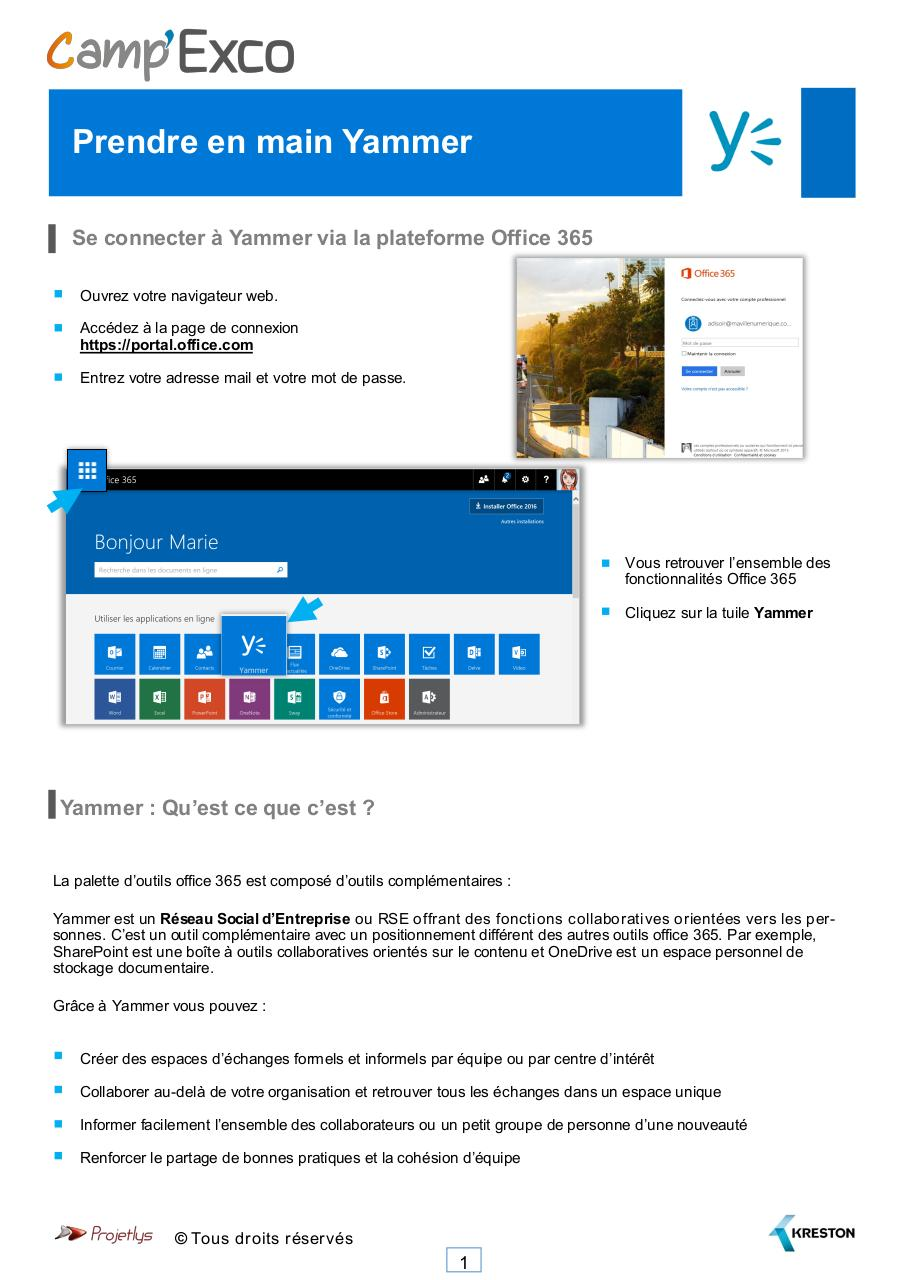 Aperçu du document Exco_Guide_Yammer.pdf - page 1/7