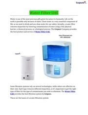 Fichier PDF water filter uae