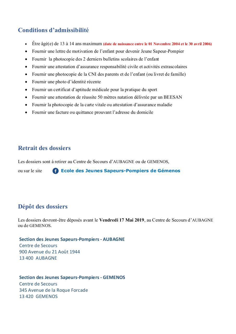 Dossier De Candidature Jsp 2019 Aub Gem Par Chouchou