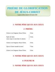 zogo el candelabro prire de glorification dejesus christ