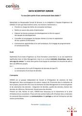 Fichier PDF data scientist junior   offre demploi