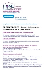pages du site home rental management espace proprietaires 1