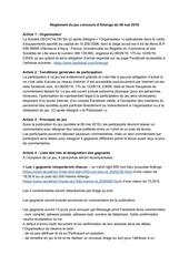 artengo   reglement jeu concours homme 06 mai 2019