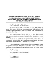 nomination des officiers subalternes des fardc tome 2