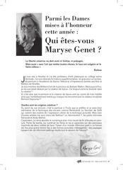 maryse genet a lhonneur