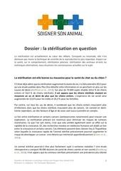 dossier sterilisation chien chat1