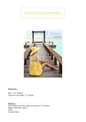 Fichier PDF tuto sac de plage en raphia