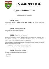 11  belote   reglement 2019