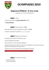 13  tir corde   reglement 2019