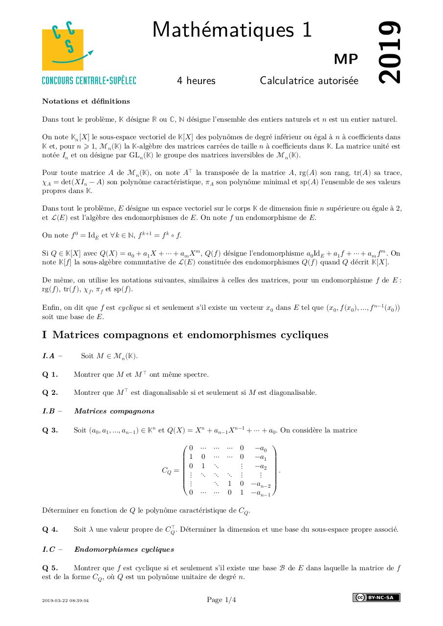 centrale  maths 1 MP 2019.pdf - page 1/4