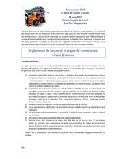 reglements de la course et regles de construction 2019