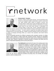 rnetwork 5 creators bios