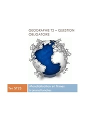 terminale st2s geographie theme 2 synthese question obligatoire