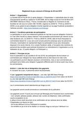 artengo   reglement jeu concours femme 20 mai 2019