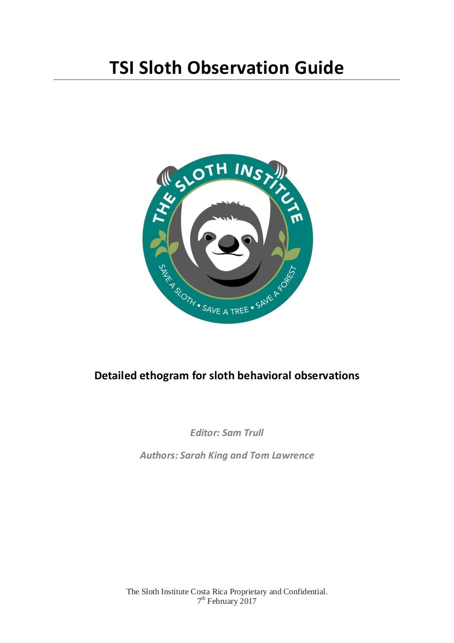 Aperçu du document TSI Sloth Observation Guide.pdf - page 1/14