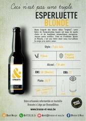 Fichier PDF esperluette blonde horeca