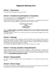 Fichier PDF reglement defichap 2019
