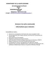 b61 autres servitudes ou plans applicables