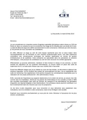 lettre de motivation cfi