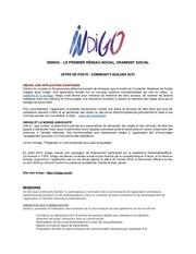 offre de poste indigo   community builderdocx