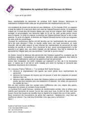 declaration sud sante sociaux du 01 juin 2019