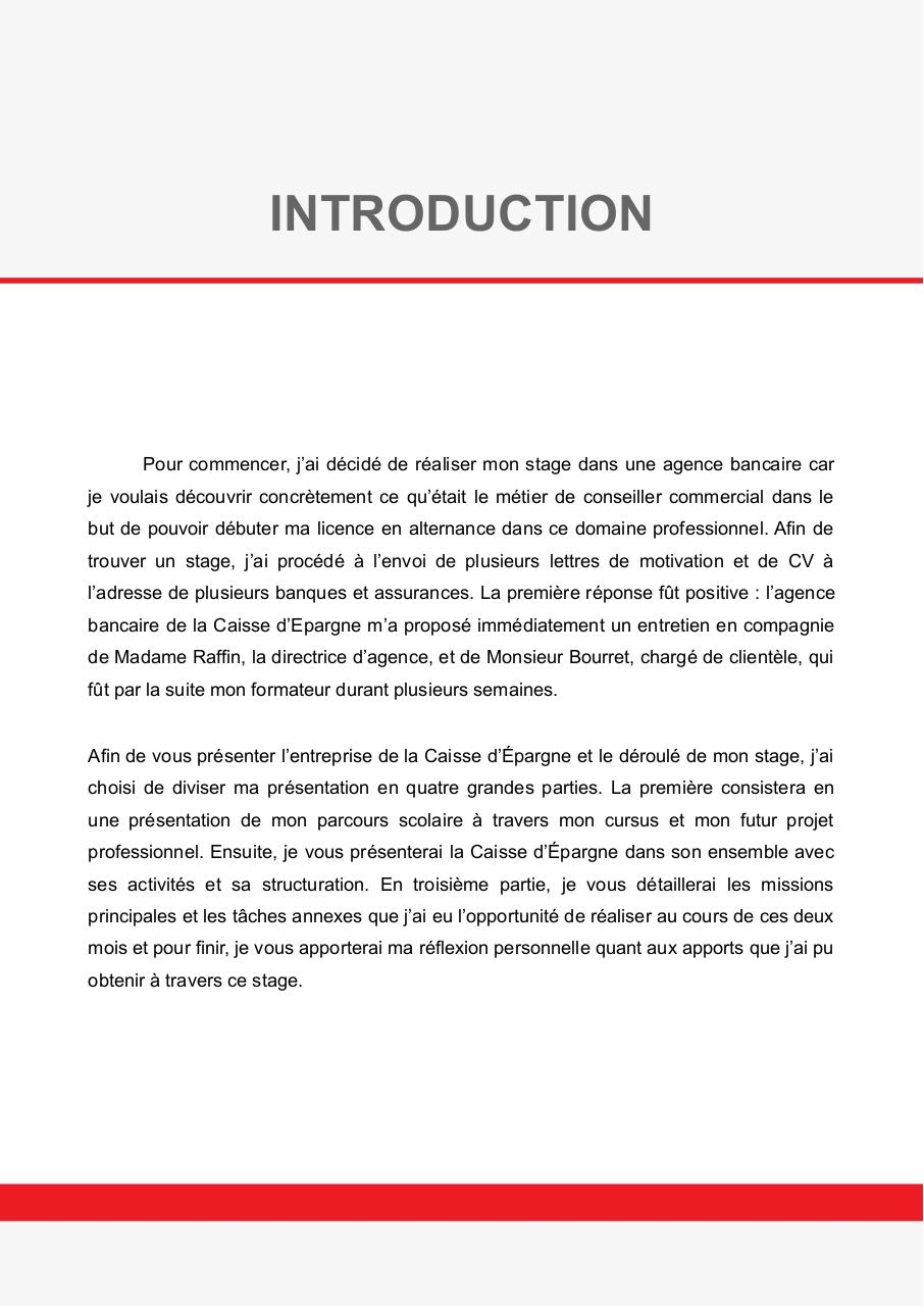 Lettre De Remerciement Rapport De Stage 3eme - Template ...