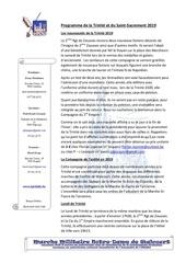 article trinite pour site internet