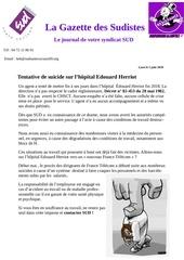 gazette des sudistes hopital edouard herriot juin 2019 1