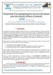 programme 4pr pour reussir son projet