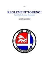 reglement tournoi saint malo escrime historique