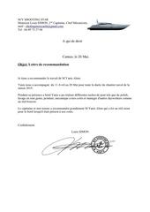lettre recommandation yanis alem fr