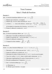 tcm sef etude de fonctions 2