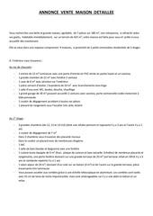 annonce vente maison pdf