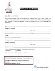 formulaire dadhesion afcbc 19 20adhesion