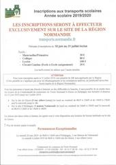 Fichier PDF inscriptions aux transports scolaires   annee scolaire 2019 2020