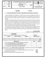 examen regional francais college3 2014 casa