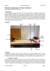 tp physique 2  energie mecanique