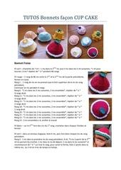 tuto bonnets facon cup cake