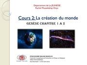 cours 2 creation du monde