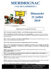 reglement et bulletin dinscription du vide grenier brocante 2019