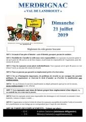 Fichier PDF reglement et bulletin dinscription du vide grenier brocante 2019