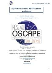rapport dactivite oscape 2017