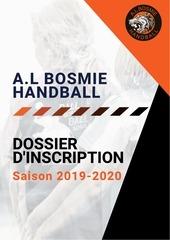 dossier dinscription al bosmie handball 2019 2020