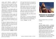 message du seigneur jesus a lhumanite