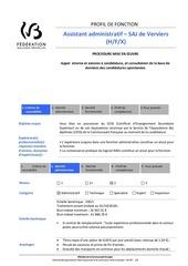 profil de fonctionassistant administratifsc 1