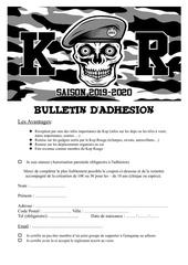 bulletin dadhesion 2019 20